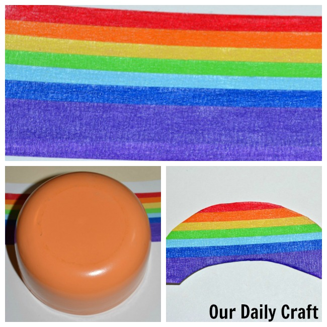 easy to make washi tape rainbow