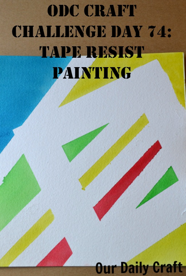 Make a tape resist painting