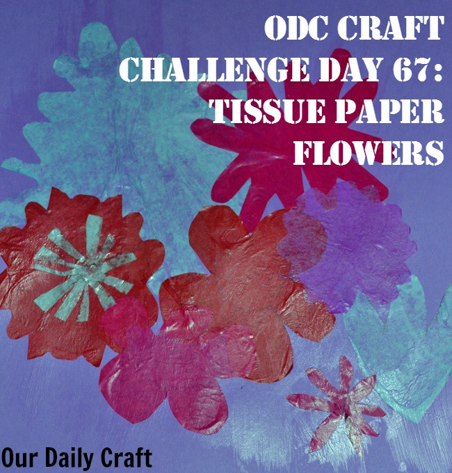 Make tissue paper flowers to brighten your day