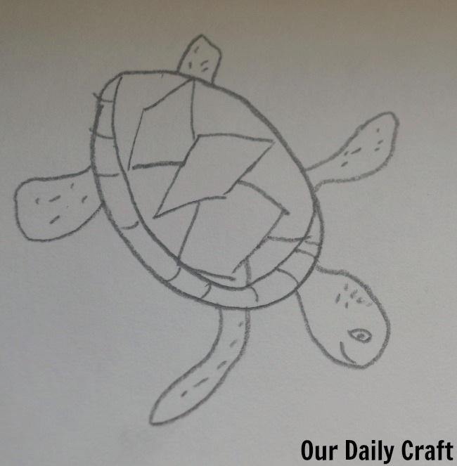 sea turtle from about.com drawing