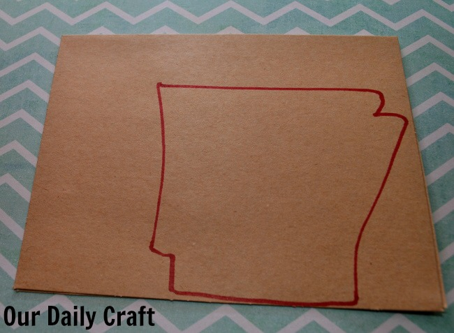 state shape note card