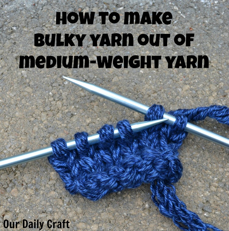 How to make bulky-weight yarn using a spool knitter.