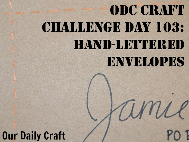 Make hand-lettered envelopes to make your cards more fun.