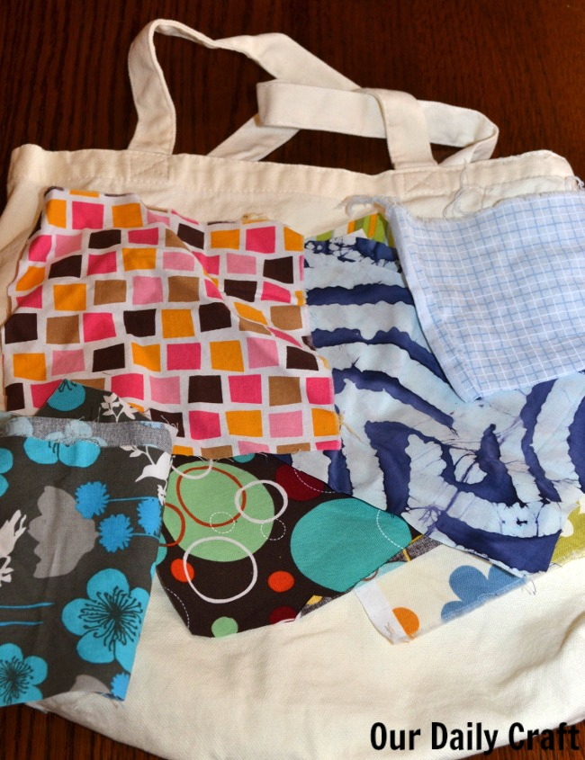 fabric scraps for tote bag craft
