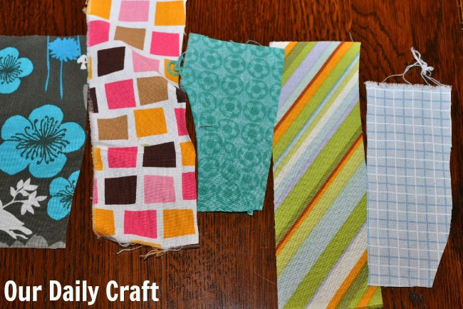 fabric strips for hand sewing