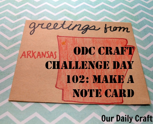 Make a note card to send to someone through the mail.