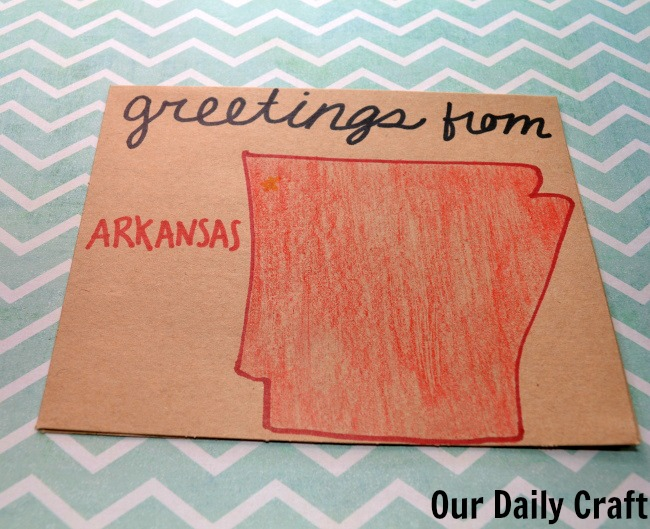 greetings from arkansas notecard