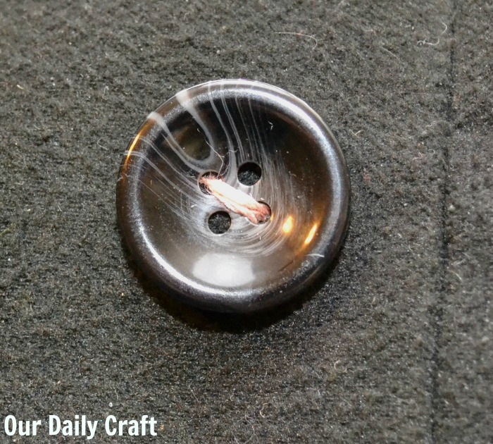 half a sewn button
