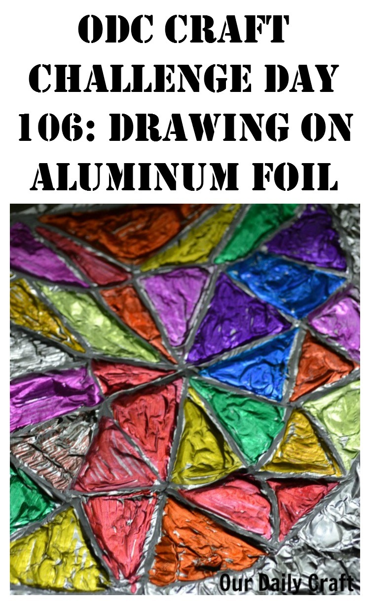 Make colored aluminum foil art; easy and fun.