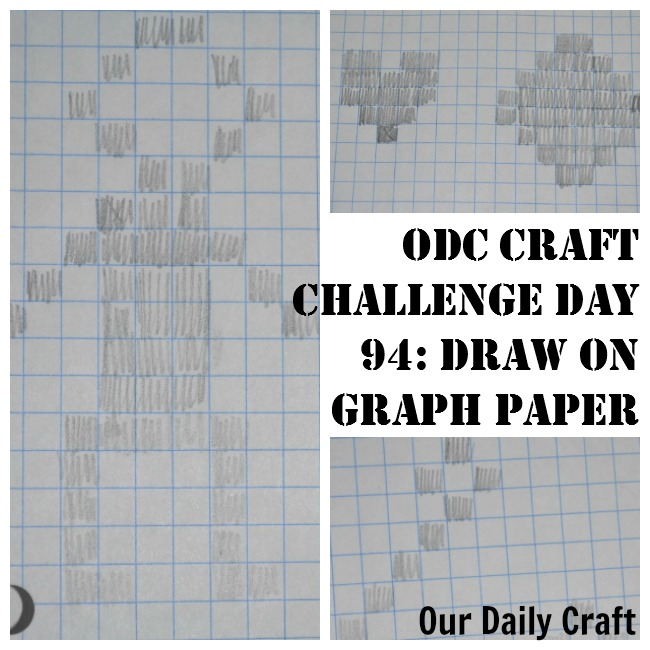 Draw on grid paper to give shapes a different look