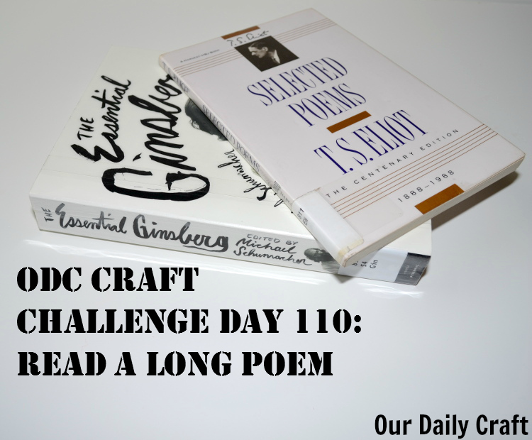 Read a Long Poem {Craft Challenge, Day 110}