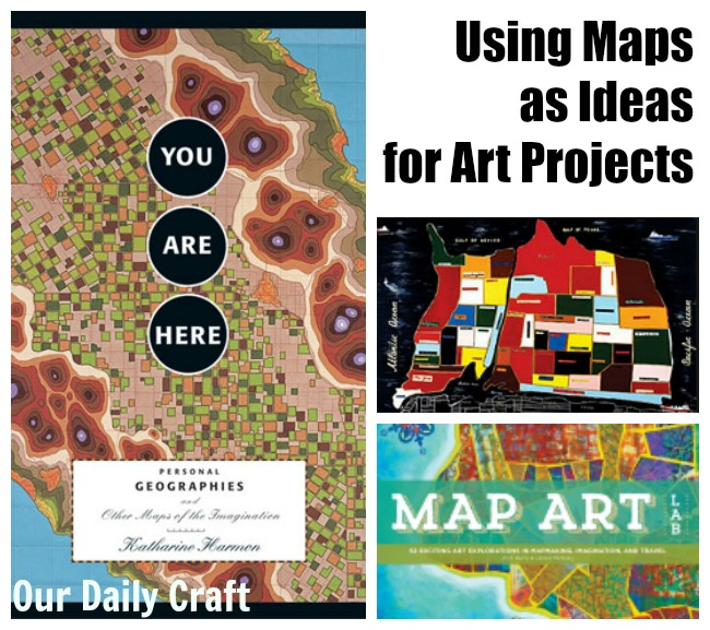 Using Maps as An Idea for Art Projects