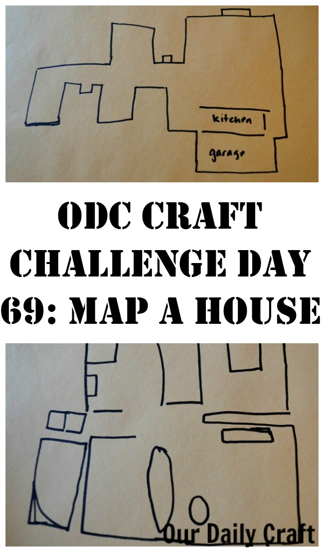 Draw a map of a house where you used to live