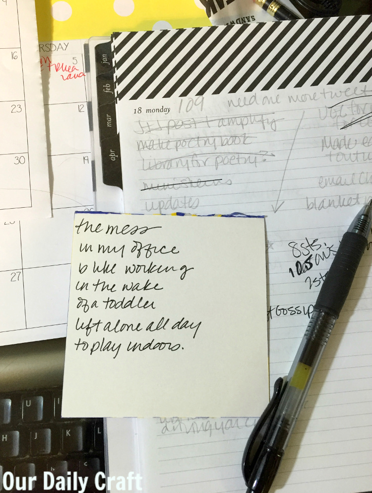 messy office poem