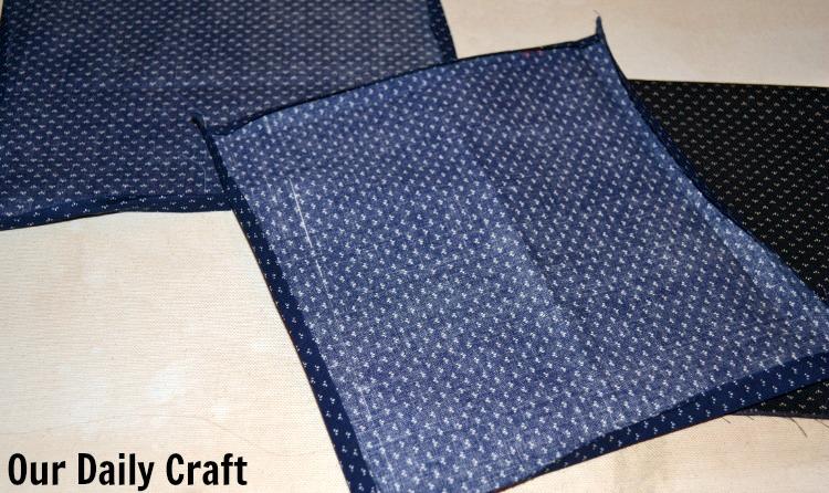 fabric napkin prep