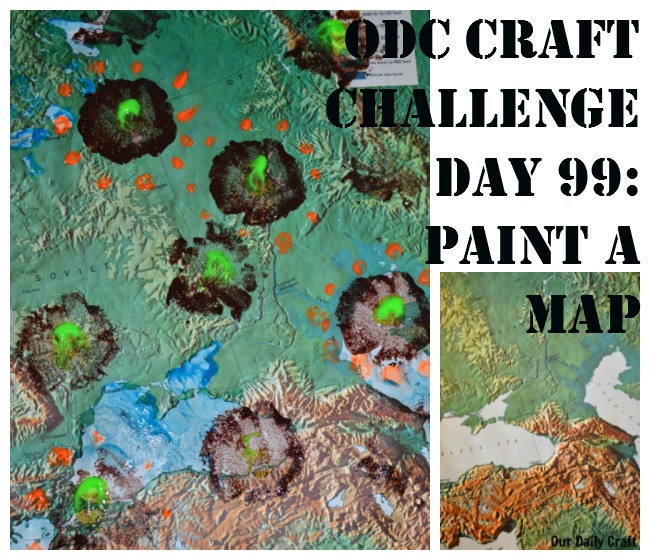 Paint on a Map {Craft Challenge, Day 99}
