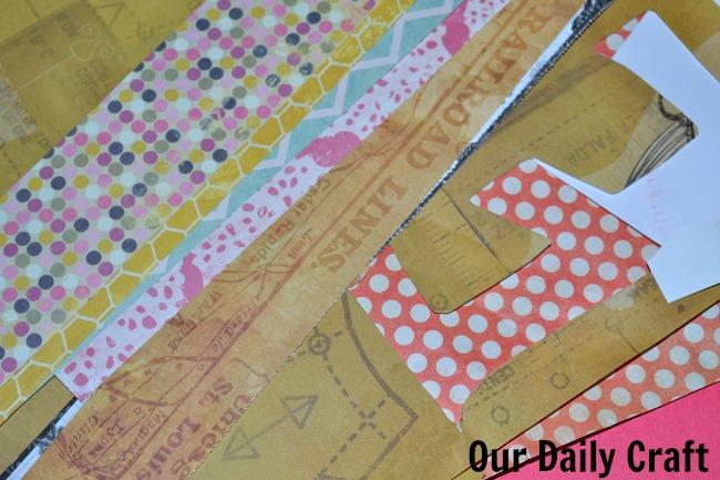 paper scraps collage