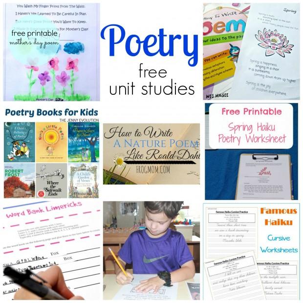 poetry unit study resources