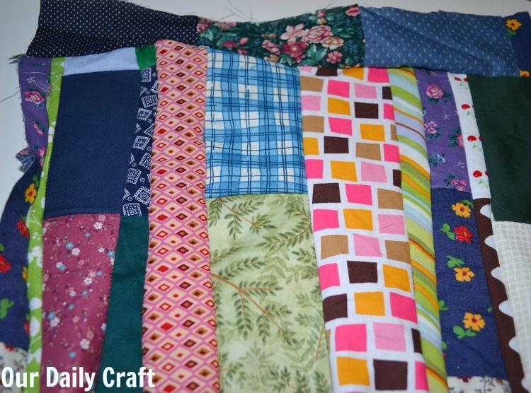 fabric scrap square