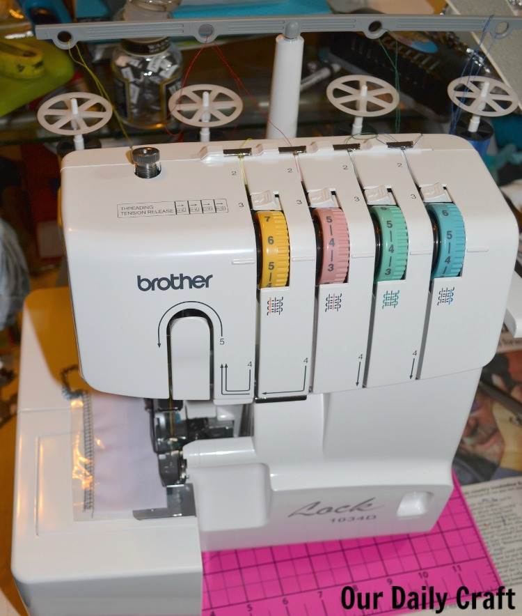 serger on table