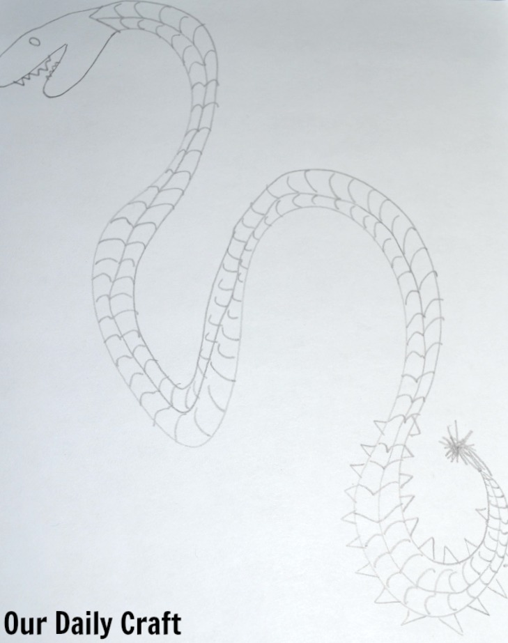 sea serpent drawing