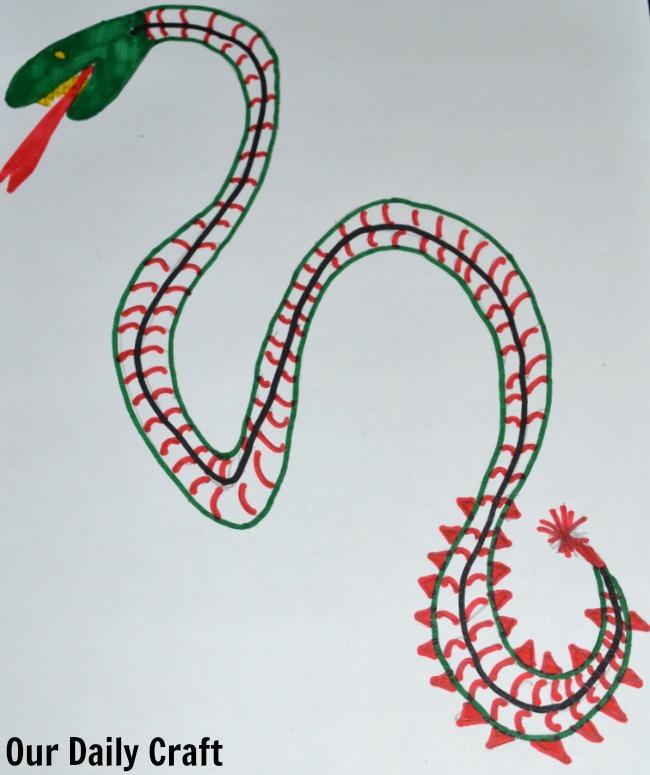 colored sea serpent