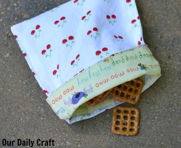 reusable fabric snack bags
