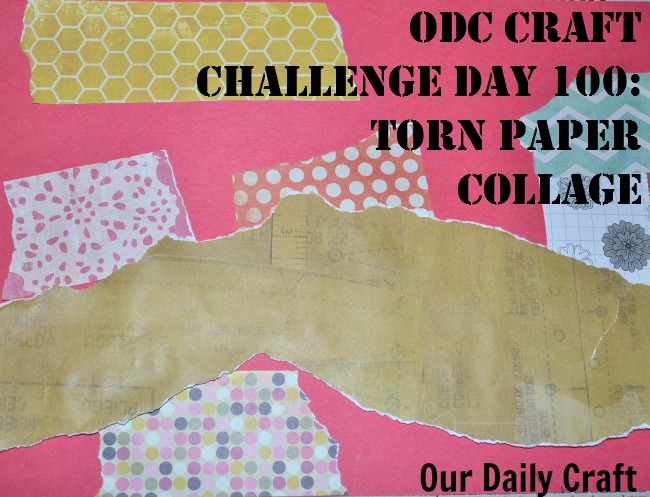 Make a torn paper collage from project scraps.