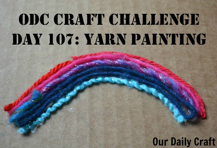 Have lots of yarn scraps? Try yarn painting.