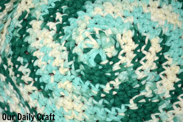 base of crocheted basket