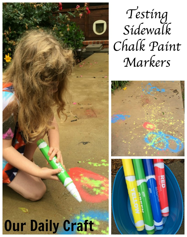 Looking for a fun summer art supply for kids? Try these sidewalk chalk paint markers.