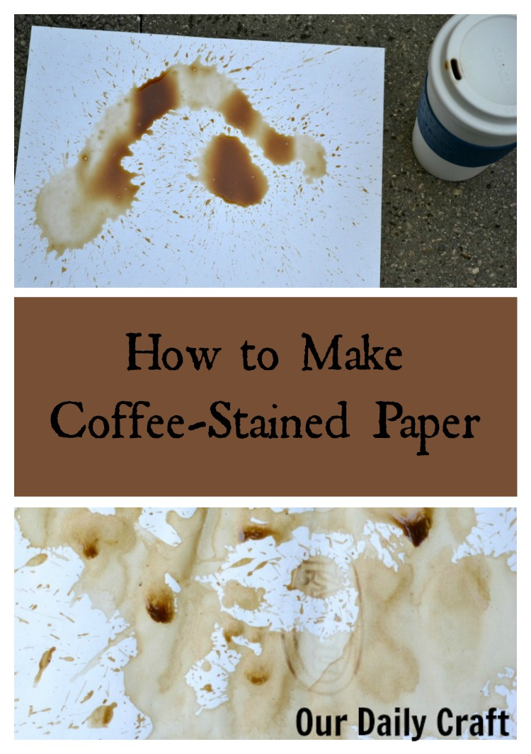 How to make coffee-stained paper.