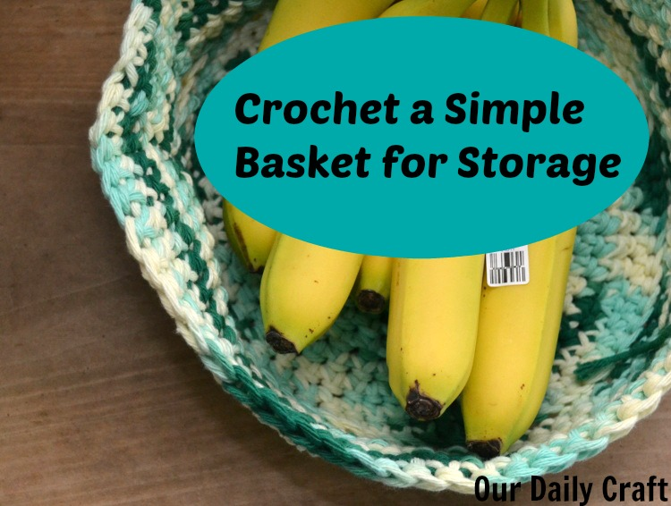 Crocheted Storage Basket {Iron Craft Challenge}