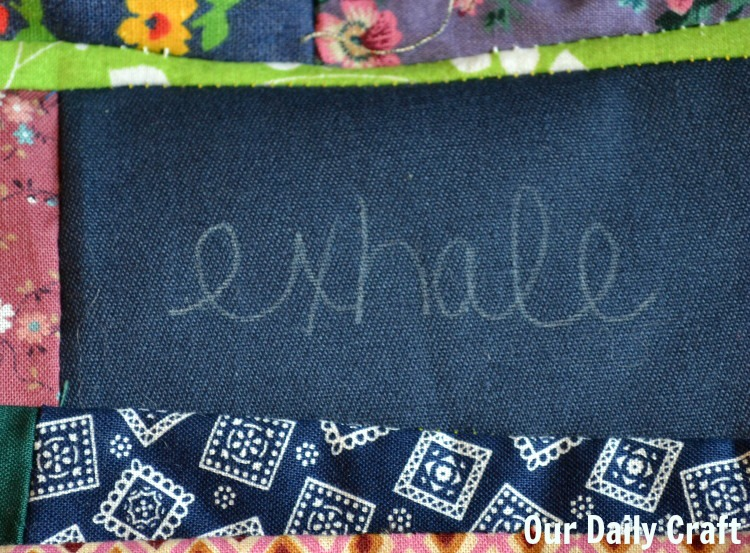 embroider a word on fabric