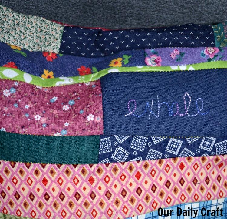 make a pillow from scrap fabric