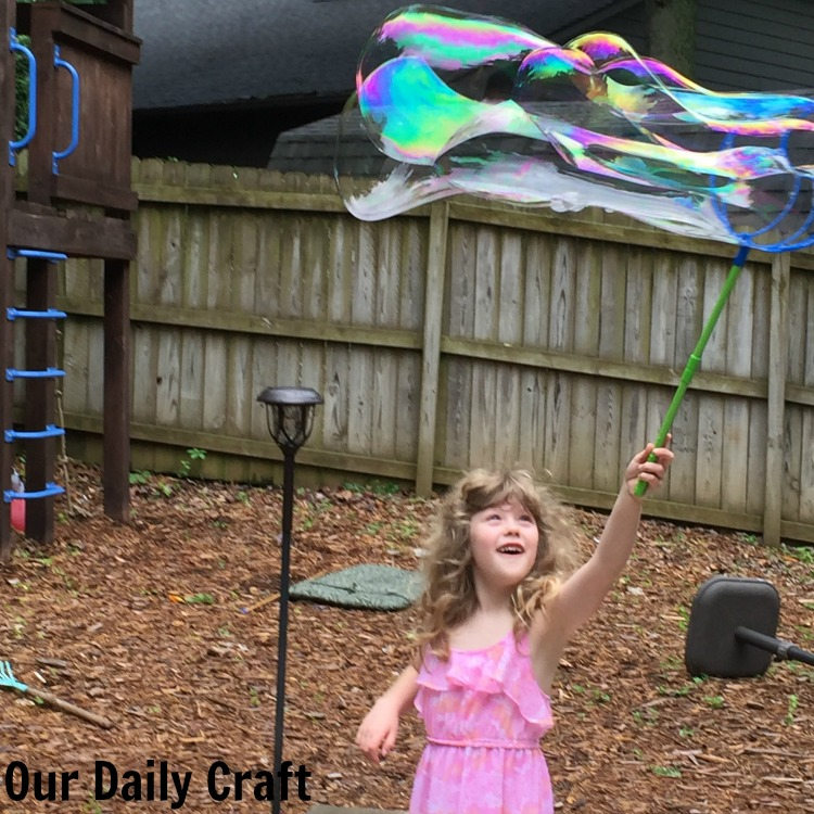 Make your own giant bubble solution for loads of summer fun.
