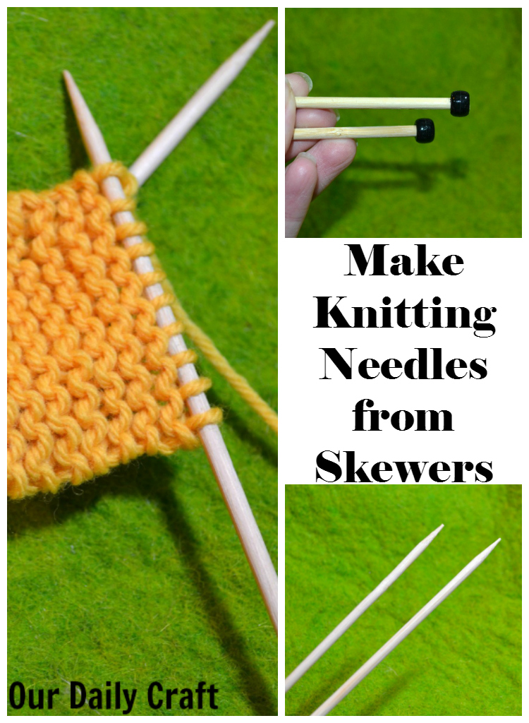 Make Knitting Needles out of Bamboo Skewers
