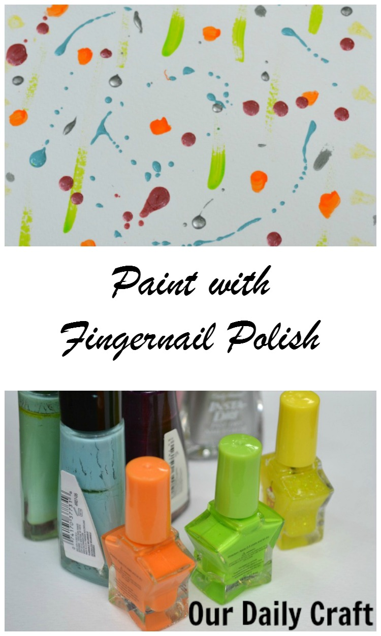 Paint with fingernail polish to use old polish in a new way