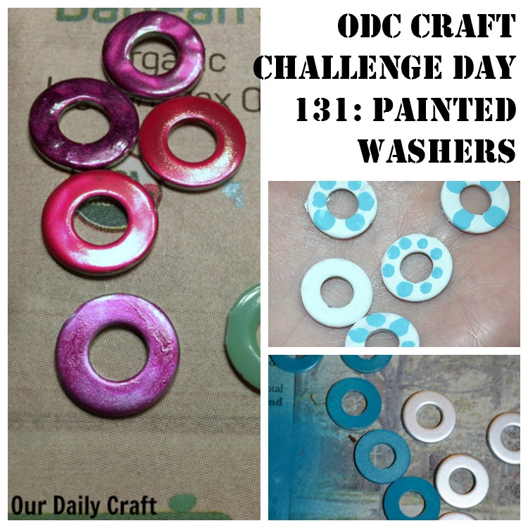 Make painted washers to use in jewelry projects