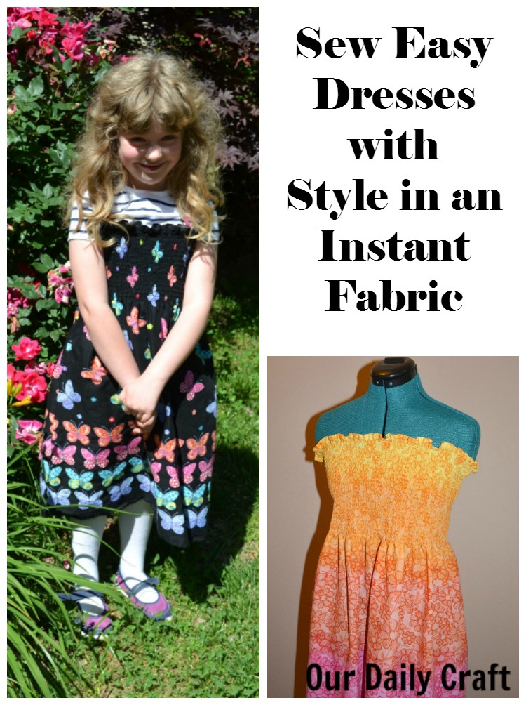 Sew a dress quickly with style in an instant fabric