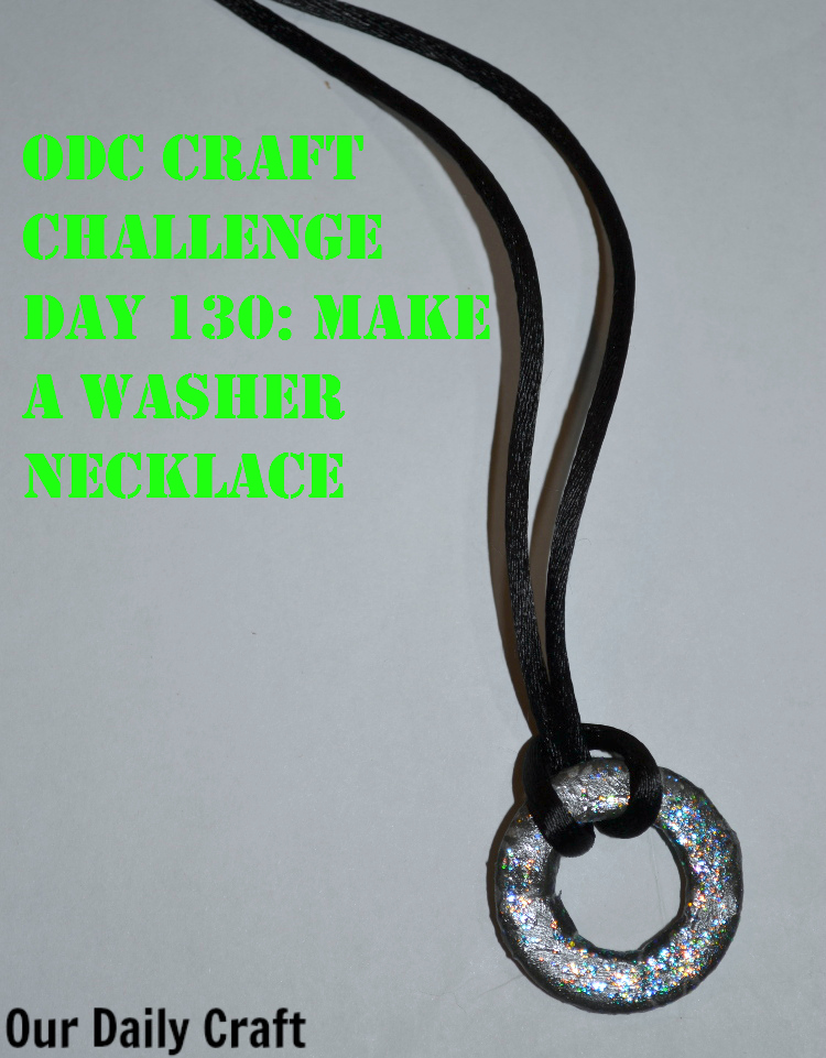 Make a washer necklace from supplies you already have