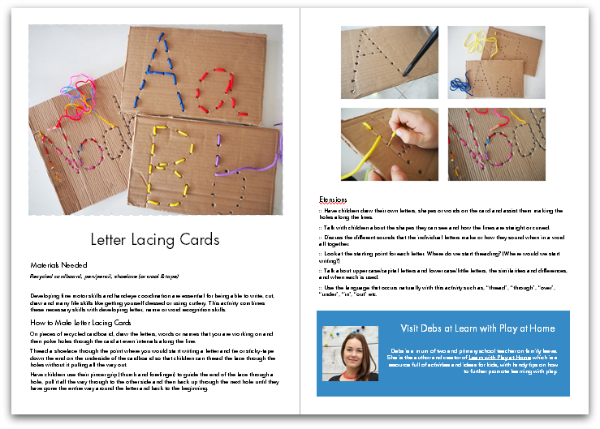 Help your kids learn about letters and numbers through play with ABCs and 123s.