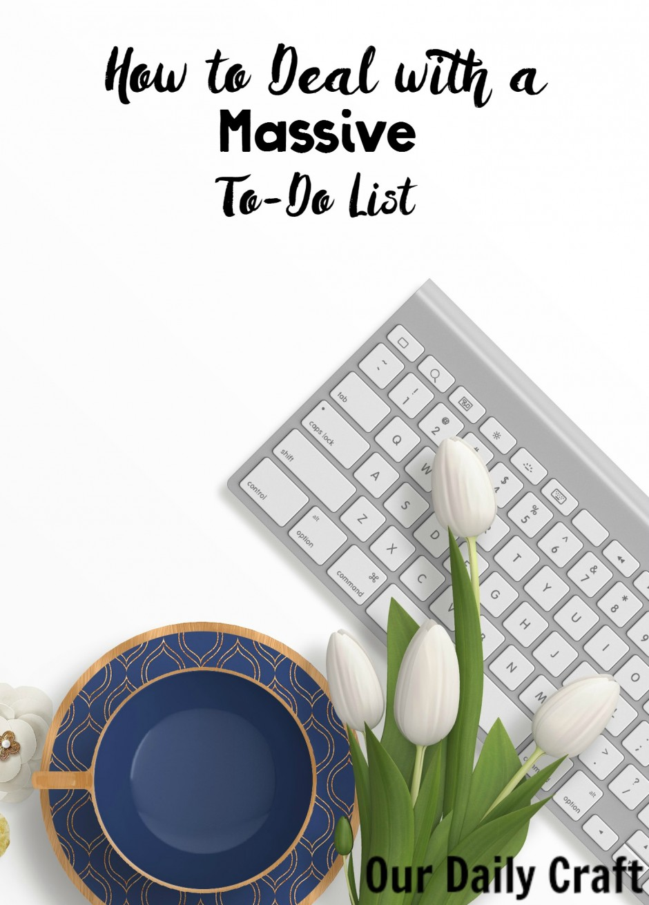 how to deal with a massive to do list