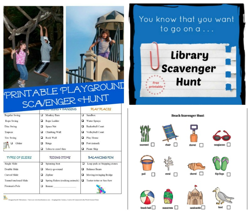 more scavenger hunts to try with your family