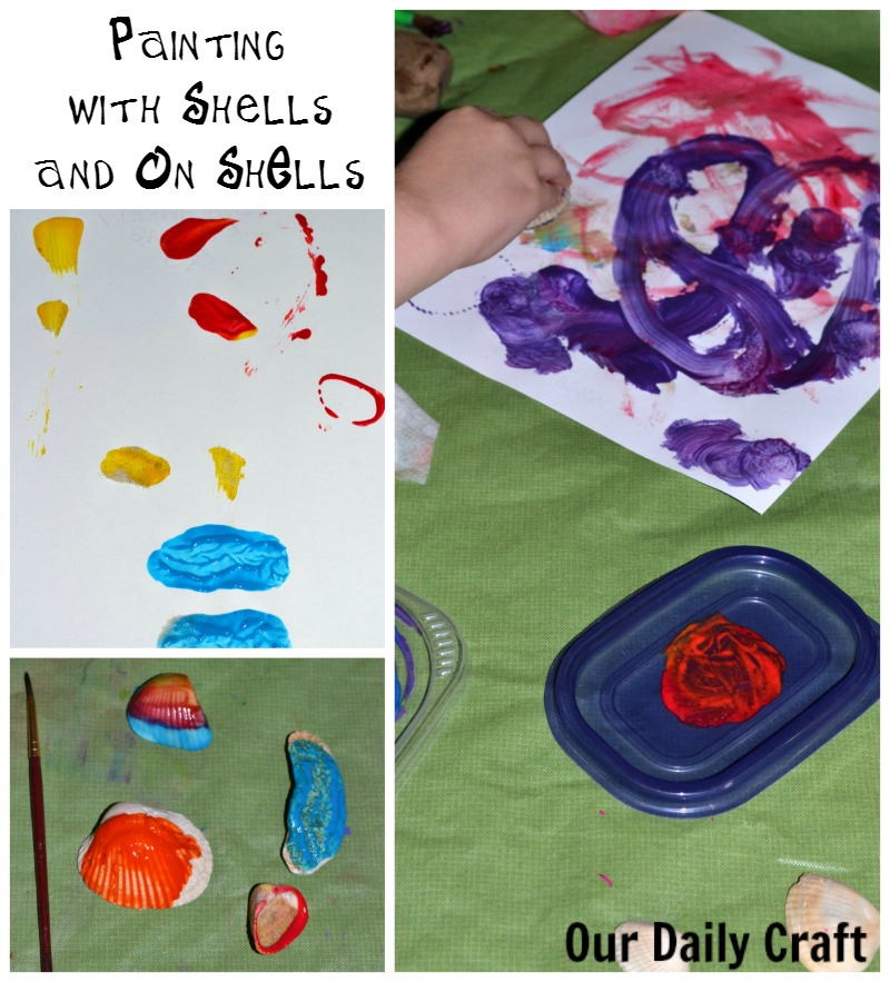 Painting with shells and on shells is a fun way to create with your summer memories.
