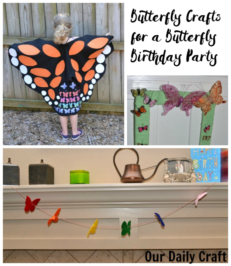 Butterfly crafts for a butterfly birthday party