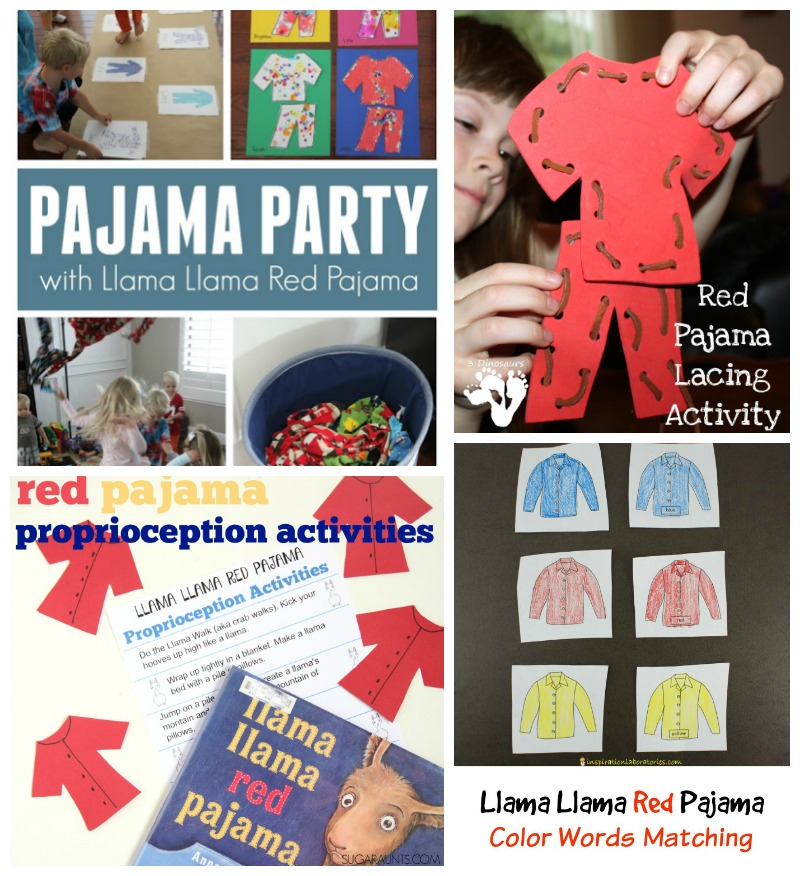 Llama Llama activities inspired by the books from Anna Dewdney