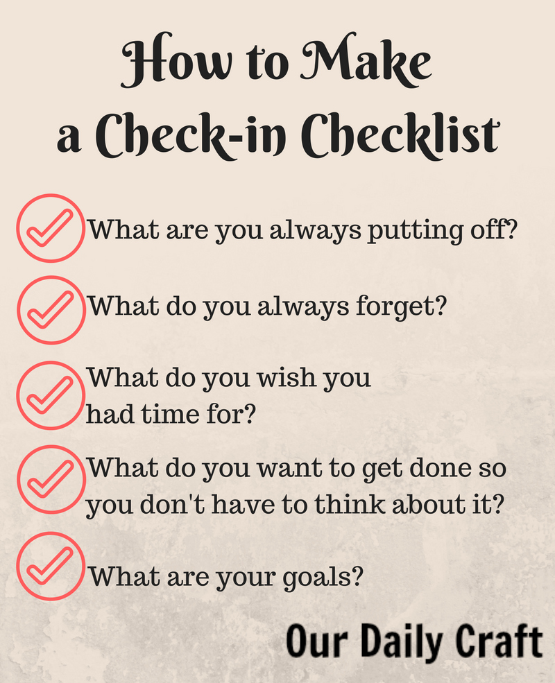 How to make a check-in checklist to start your month right.