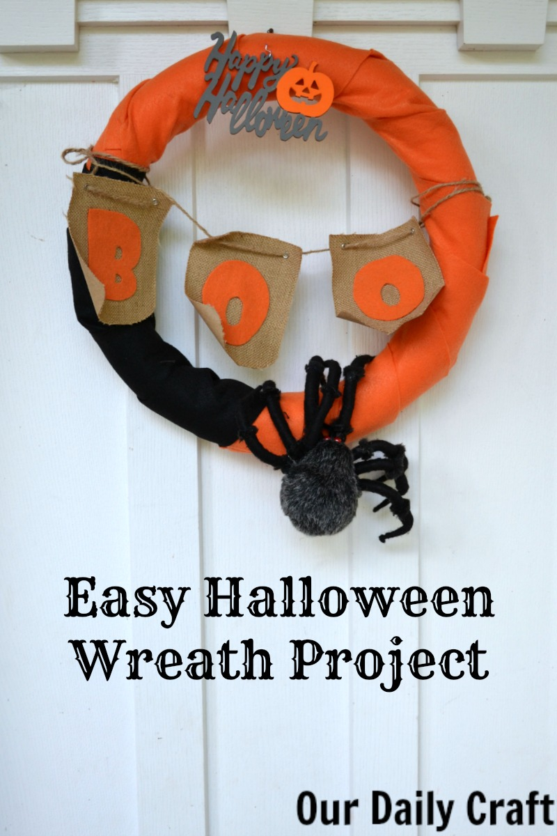 Make an easy Halloween wreath that you can change up many different ways.