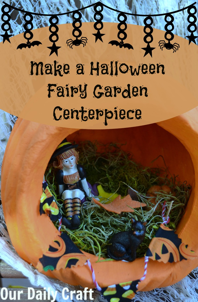 Make a Halloween fairy garden centerpiece for your table.